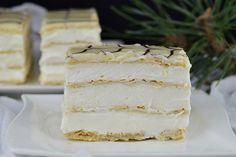 Mille-feuille (prajitura Napoleon) - CAIETUL CU RETETE Napoleon, Vanilla Cake, Caramel, Desserts, Food, Salt Water Taffy, Tailgate Desserts, Toffee, Deserts