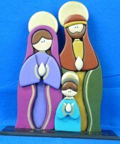 Pesebres tomados de la web :: RT Decoraciones y algo más... Christmas Mood, Christmas Crafts, Merry Christmas, Wooden Snowmen, Painted Rocks, Smurfs, Snowman, Dupont, Pintura Country
