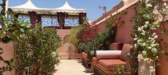 Shaded sitting area, Riad Al-Bushra, Marrakech