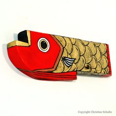 Wood Furniture Wood Fish Folk Art & Jewelry Handmade by TaylorArts