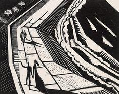 Promenade (Promenade No.1). Paul Nash, 1920. Wood engraving.