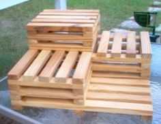 Local find in #Tampa - www.kenswoodprojects.com - very excited as we labored over a huge rock garden and courtyard this weekend and these hand-made plant stands will be awesome for my container vegetables... only $25. Hand made and local - you can't beat that now can you? Pretty cool.