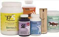 Stemtech range of food supplements containing certified organic AFA and other botanicals clinically researched and carefully documented to increase adult stemcells
