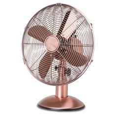 The cutest rose gold brass fan - interior design - Goldair Metal Desk Fan 30cm Brass - summer pink theme x