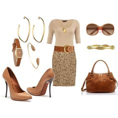 Neutrals--and one sizzling sequin skirt--oh yeah