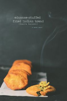 Edamame-stuffed fried Indian bread-Khasta Katchori-- a Diwali treat.