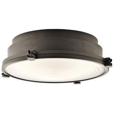 Kichler Hatteras Bay LED Flush Mount Ceiling Fixture - Olde Bronze