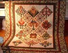 .sampler quilt fall colors