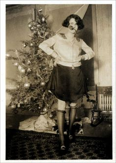 Christmas flapper in the 1920s