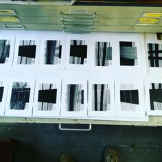 "Martyn Brewster on Instagram: ""It has been a black and white week. After making some monochrome drawings I decided to make some monoprints or monotypes. .A draw full of…"""