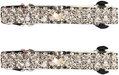 Caravan Automatic Barrette Decorated with Double Lines of Swarovski Crystal Stones in Pair >>> Read more reviews of the product by visiting the link on the image.