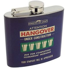 Ministry of Chaps Hangover Under Construction Hipflask 5oz *** For more information, visit image link. (This is an affiliate link) #CampingHikingHydrationFiltration