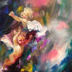 Katy Jade Dobson Art - Oil Painting - Cherubs
