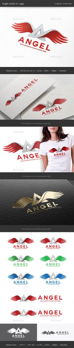 Angel Wing Letter A - Logo Design Template Vector #logotype Download it here: http://graphicriver.net/item/angel-wing-letter-a-logo/9937176?s_rank=1022?ref=nesto