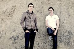 James and Oliver Phelps best known for playing Fred and George Weasley, respectively, in the Harry Potter film series. <3
