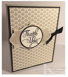 "Neutral Thank You is made with Stampin' Up's ""Everything Eleanor"" and ""One Big Meaning"" stamp sets."