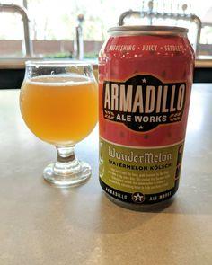 Bring on the watermelon!  The watermelon beer that is. Creamy fruity  deliciousness from @armadilloaleworks. . . . #beerstagram #beer #kolsch #watermelon #ntxbeer #ntx_beer #cerveza #cerveja #texasbeer #dentontx #dentonbeer