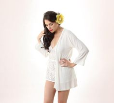 5800c561f68 eco intimates Playfield Robe in Ivory - Between the Sheets Collection