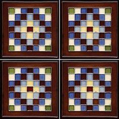 Solistone Cuadros 6 inch x 6 inch Hand-Painted Ceramic Deco Wall Tile (Price per Case of 10), Multicolor