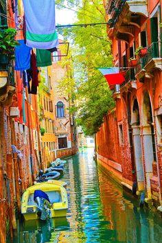 bluepueblo:  Colorful Canal, Venice, Italy photo via chloe