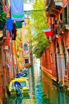 Colorful Canal, Venice, Italy  photo via chloe