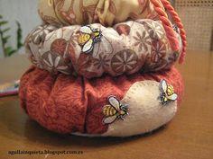 patchwork, coixi agulles, porta tisores