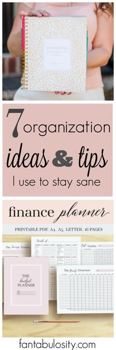 Organization ideas and tips to help with stress, finances and LIFE!
