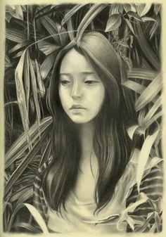"""Umbrella""Graphite on paper - Joanne Nam"