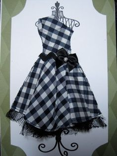 On the bias gingham bodice and circle(?) skirt.