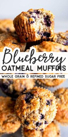 Healthy Blueberry Oatmeal Muffins Blueberry Oatmeal Muffins are an easy breakfast or snack to stash in the freezer. They are made with whole grains and sweetened with honey – a quick, easy and nutritious recipe that's perfect for meal prep! Breakfast Appetizers, Breakfast And Brunch, Breakfast Dessert, Healthy Breakfast Recipes, Best Breakfast, Healthy Baking, Brunch Recipes, Healthy Recipes, Healthy Blueberry Recipes