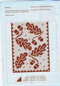 crochet home: table runner fillet crochet