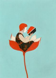 fantastic illustration by Simone rea - http://simonerea.blogspot.com/2012/02/eli-letture-graduate.html
