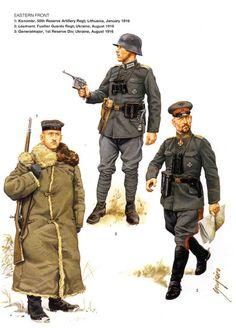 DEUTSCHES HEER - Fronte Est - 1 Kanonier, 55° Reggimento Artiglieria di Riserva, Lituania 1916 - 2 Leutnant, Reggimento Fucilieri della Guardia, Ucraina 1916 - 3 Generalmajor, 1 Divisione di Riserva, Ucraina 1916