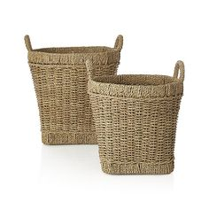 Handwoven in the Philippines, this multifunctional basket has a unique shape…
