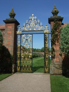 Gate in Eaton Hall Gardens, Cheshire.