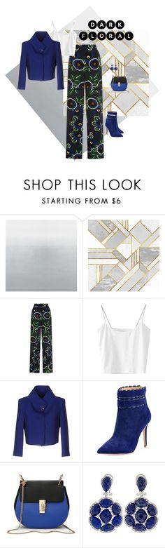"""dark blossom"" by shannonsmilez ❤ liked on Polyvore featuring Tory Burch and Badgley Mischka"