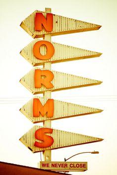 Norms  Restaurants Sign in California via flickr