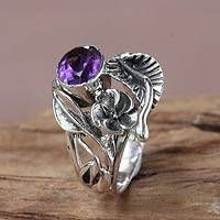 Fair Trade Floral Amethyst and Silver Ring, Frangipani Bouquet Purple Stone Rings, Emerald Stone, Cheap Silver Rings, Ring Displays, Emerald Jewelry, Pretty Rings, Silver Bracelets, Silver Earrings, Sterling Silver Jewelry