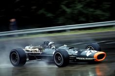 Pedro Rodriguez in the wet BRM P133