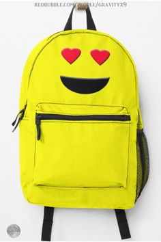 "* ""Emoji with Heart Eyes"" Backpack by #Gravityx9 at Redbubble * Matching school notebooks, book tote bags and more are available! * Emoji backpack * emoticon backpack * yellow backpack * back to school supplies for high school * back to school supplies * back to school shopping * High school shopping list * school supplies * school supplies high school * #backtoschool #schoolbags #cute #schoolshopping #backpacks #emoji #emoticon #yellow #hearteyes #smiley 0720 Back To School Shopping, High School, Emoji Heart Eyes, Emoji Backpack, Yellow Backpack, Back To School Backpacks, School Notebooks, Back To School Supplies, Kids Corner"