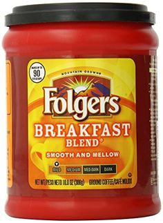 Folgers Breakfast Blend Ground Coffee, Ounce: Start your day with Folgers breakfast blend coffee, a soothingly smooth, mild roast. Folgers Coffee, Coffee Cans, Coffee Can Crafts, Market Displays, Coffee To Go, Ground Coffee, Canning, Breakfast, Juices