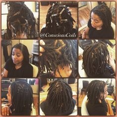 Style: Loc Retight (Palm-rolled/twisted) and Maintenance  Client's Hair Type: 3b/c Hair Added: NA  Products Used: Coiled! by Conscious Coils (Original Refresher Spray and Loc Gel)  Time: 1hr 40mins (includes time under the dryer) Style Duration: Loc retight every 5-6weeks