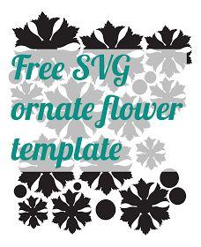 Free ornate flower shape .SVG - from mel stampz