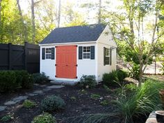 Reeds Ferry Sheds traditional sheds, paint the doors a different darker color