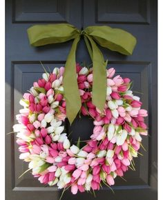 Beautiful Tulip Wreath -DIY