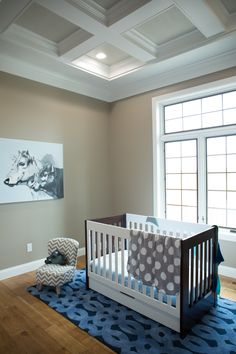 Interior Products | crown moulding to finish off a coffered ceiling in the nursery | Bayer Built Woodworks, Inc.