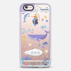 Under the sea, mermaid, whale and delphine underwater adventures. - New Standard iPhone 6 Case in Lavender Violet by Marta Olga Klara | @casetify