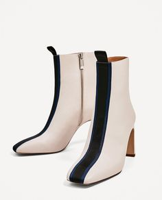 3eb278f247aa CONTRAST HIGH HEEL ANKLE BOOTS - NEW IN