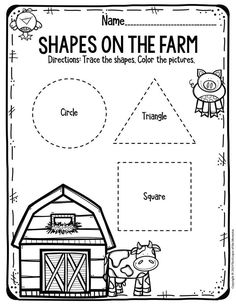 If you're looking for free printable worksheets for preschool & kindergarten, then look no further. Here are links to all of the printable worksheets that I've created for preschoolers and kindergartners. You'll find math and Farm Animals Preschool, Free Preschool, Preschool Themes, Preschool Lessons, Preschool Kindergarten, Kindergarten Worksheets, Preschool Farm Crafts, Preschool Homework, Preschool Readiness
