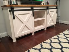 Barn Door hardware console | Do It Yourself Home Projects from Ana White